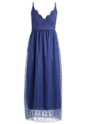Molly Bracken Maxi Dress See Blue Stone Blue Denim