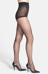 Plus Size Women's Donna Karan 'The Nudes' Control Top Hosiery Charcoal