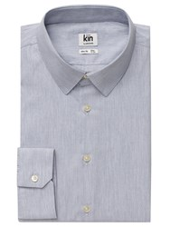 Kin By John Lewis Melange Poplin Slim Fit Shirt Grey