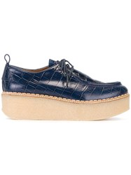 Flamingos 'Titus' Platform Brogues Blue