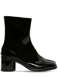 Maison Martin Margiela 60Mm Tabi Patent Leather Boots Black Red