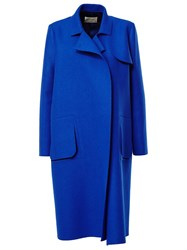 Maison Rabih Kayrouz Double Breasted Coat Blue