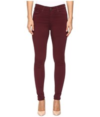 Ag Adriano Goldschmied Farrah In Wine Wine Women's Jeans Burgundy