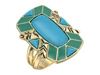 House Of Harlow Nile Delta Cocktail Ring Turquoise Ring Blue