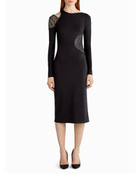 Jason Wu Lace Inset Cutout Sheath Dress Black