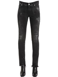 Alyx Skinny Destroyed Cotton Denim Jeans