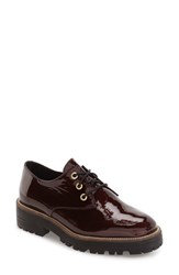 Shellys Women's Shelly's London 'Terrwyn' Platform Oxford Burgundy Patent Fabric