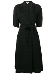 Equipment Wrap Midi Dress Black