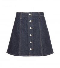 Alexa Chung For Ag Kety Denim Miniskirt Blue