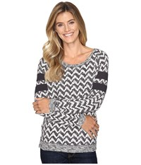 Cruel Long Sleeve Patterned French Terry Pullover Multicolored Women's Long Sleeve Pullover
