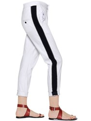 Etoile Isabel Marant Contrasting Band Stretch Denim Pants