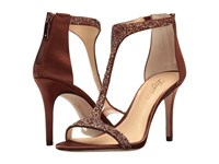 Imagine Vince Camuto Phoebe Bronze Crystal Delux Satin Women's Shoes Brown