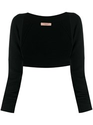 Twin Set Knitted Logo Charm Bolero Black