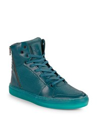 Creative Recreation Adonis Leather Hi Top Sneakers Teal