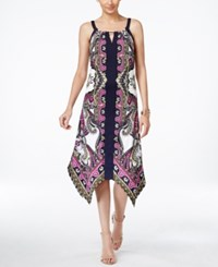 Inc International Concepts Petite Printed Handkerchief Hem Sheath Dress Only At Macy's