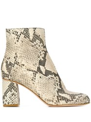 Red Valentino V Snakeskin Effect Boots Neutrals