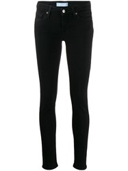 7 For All Mankind Low Rise Skinny Jeans Black