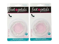 Foot Petals Technogel W Softspots Tip Toes 2 Pair Pack Pink Gel Women's Insoles Accessories Shoes Red