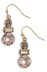 Sorrelli Dianella Crystal Drop Earrings Beige