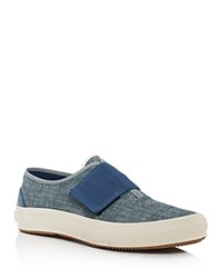 The Hill Side Neppy Chambray Bridge Low Sneakers Indigo