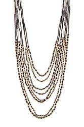 Sparkling Sage Layered Multi Strand Beaded Necklace No Color
