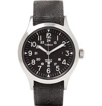 Timex Scout Brook Stainless Steel And Stonewashed Webbing Watch Charcoal