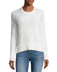 Rag And Bone Elsie Flyaway Back Crewneck Sweater White
