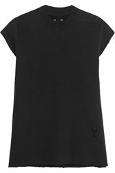 Rick Owens Cotton Jersey Sweatshirt Black