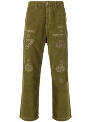Prps Distressed Corduroy Trousers Green