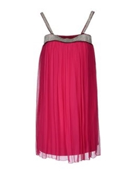 Little Fancy Short Dresses Fuchsia