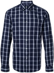 Gant Rugger Dreamy Oxford Check Shirt Men Cotton Xl Blue