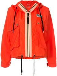 P.E Nation Hooded Sports Jacket Red