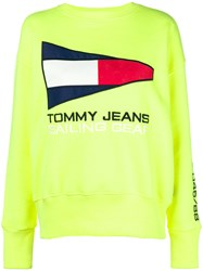 Tommy Jeans Sailing Gear Logo Sweatshirt Yellow And Orange