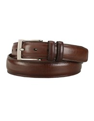 Perry Ellis Feathered Edge Leather Dress Belt Brown