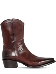 Dsquared 50Mm Leather Cowboy Boots Brown
