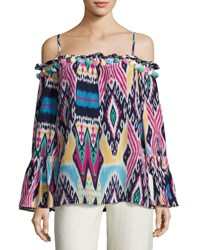 Figue Anita Ikat Cold Shoulder Top Multi Multi Pattern