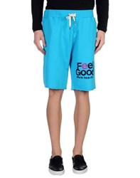 Reign Trousers Bermuda Shorts Men Turquoise