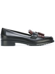 Tod's Fringed Tassel Loafers Black