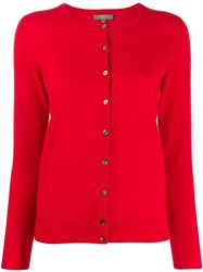 N.Peal Round Neck Cardigan Red