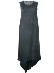 Isaac Sellam Experience Cascading Tank Dress Women Silk 38 Grey