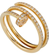Cartier Juste Un Clou 18Ct Yellow Gold And Diamond Ring