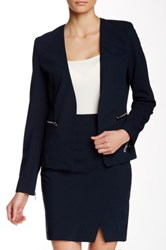 Dex Solid Open Front Blazer Blue