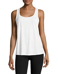 Calvin Klein Crisscross Back Tank Top White