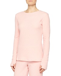 Cosabella Aosta Long Sleeve Fleece Top Rosa Sorbetto