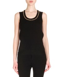 Givenchy Studded Wool Knit Top Black