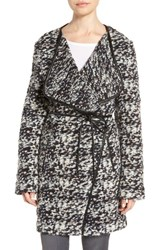 French Connection Women's Belted Tweed Boucle Coat
