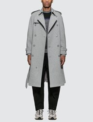 Burberry Cotton Jersey Trench Coat Grey