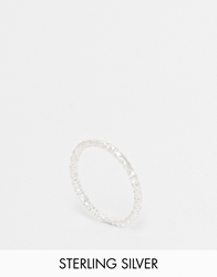 Dogeared Sterling Silver Midi Love Sparkle Ring