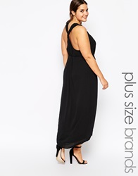 Carmakoma Racer Back Maxi Dress Black