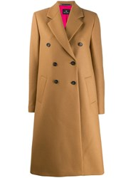 Paul Smith Ps Double Breasted Coat Neutrals